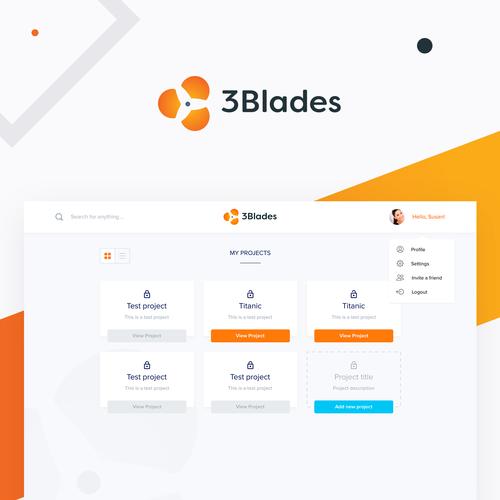 3Blades Web App (Dashboard)