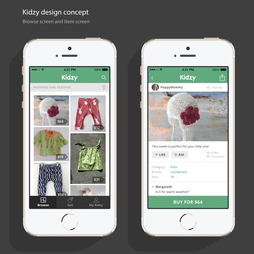 Mobile App Kidzy