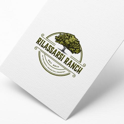 Vintage retro logo for Rilassari Ranch !