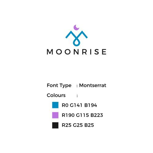Design an identity illustrating Moonrise's passion for fusing technology and wellness
