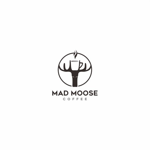 Bold logo for Mad Moose Coffee