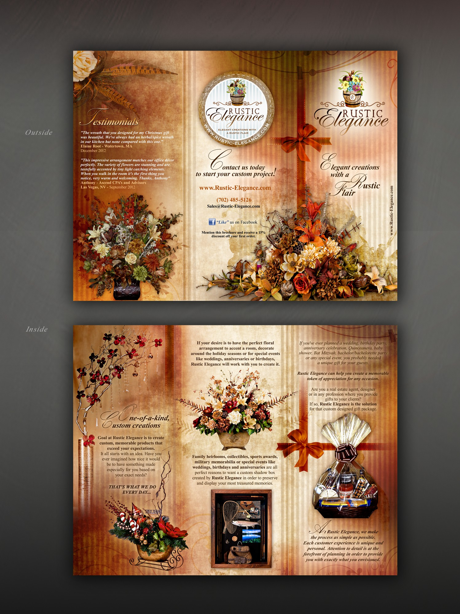 Help Rustic Elegance with a new brochure design