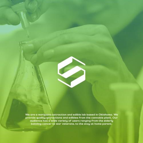 Modern, Minimalist and Powerful Logo for Marijuana Laboratory