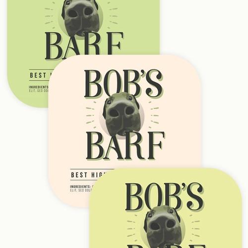 Bob's Barf Label Design