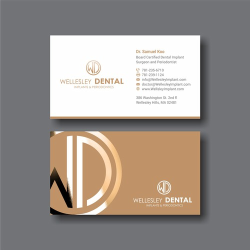Business card for a dental office