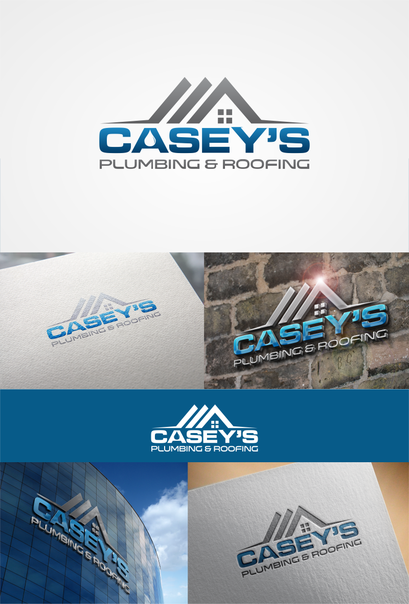 Create a clear and professional design for Casey's Plumbing & Roofing