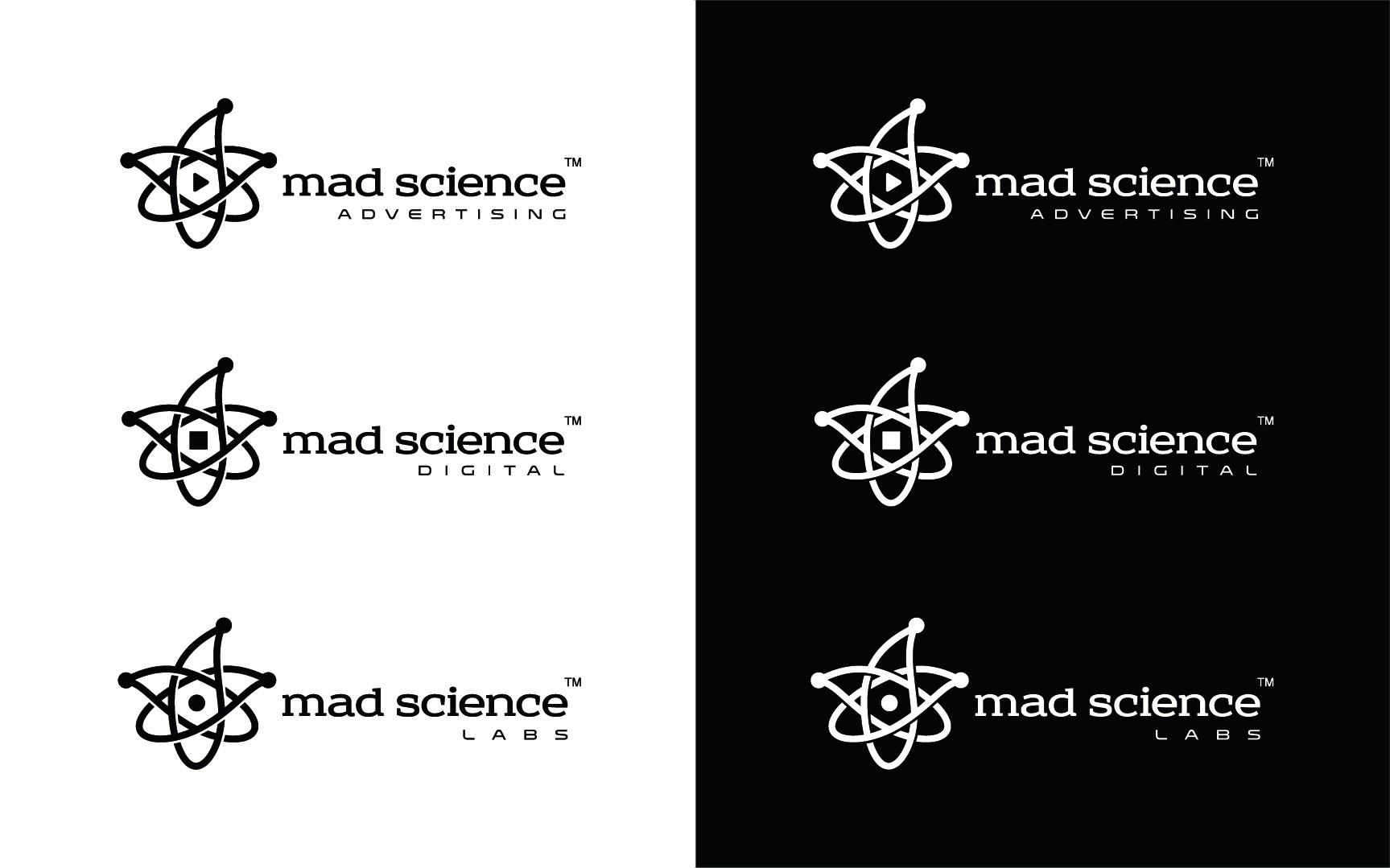 Logo design for Mad Science Digital — a digital PR agency