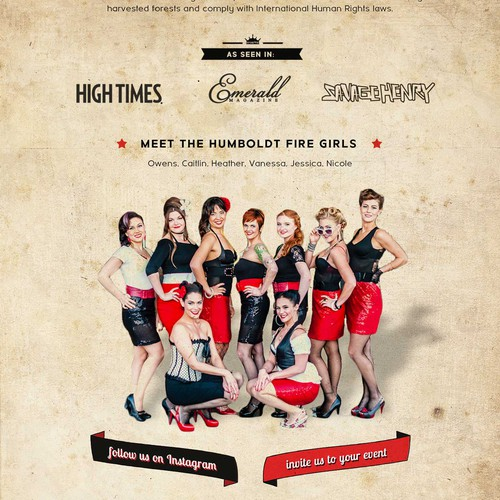 Bold website for pin-up themed rolling paper