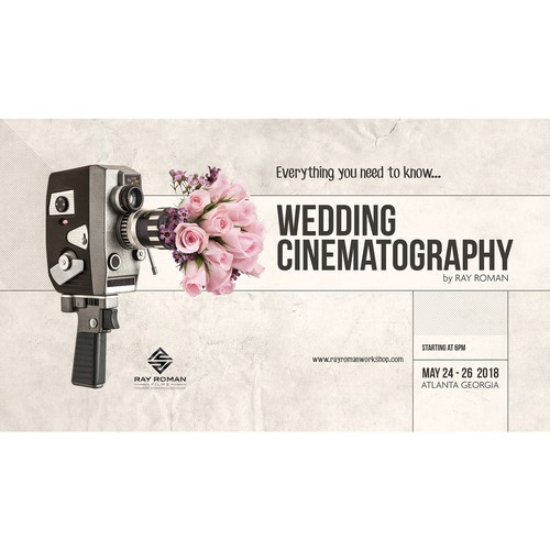 Poster for Wedding Cinematography Workshop