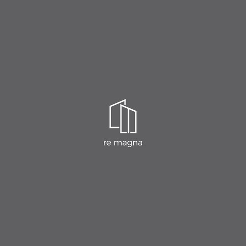 logo concept for re magna estate