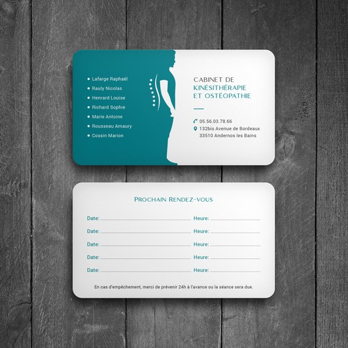 Physiotherapy Practice Business Card