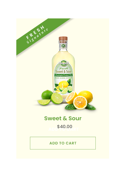 Design a new website for FRESH Craft Cocktail Mix Company (Pure-Craft® Mixers)