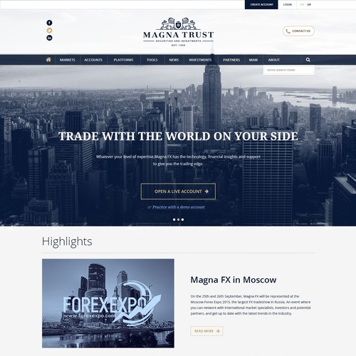 Web Page Design for Financial Organization