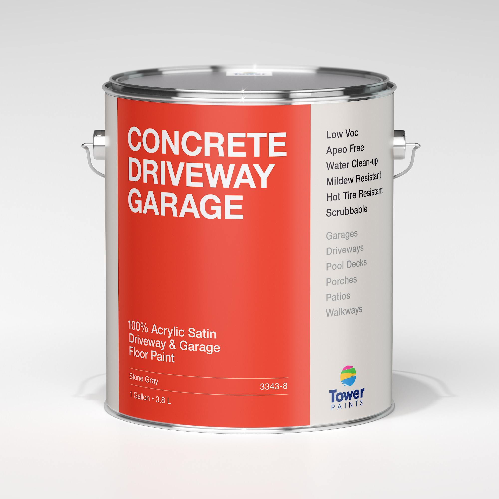 Modern Flat Design Needed for Gallon Paint Can Labels