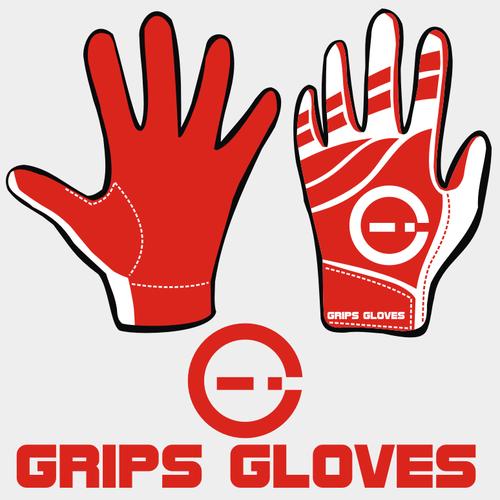 Design a new sleek football glove for GRIPS GLOVES