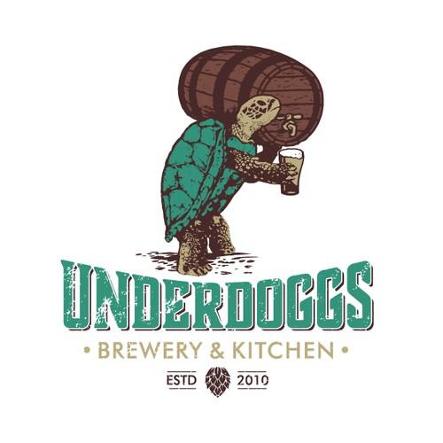 A nice Underdoggs Brewery & Kitchen logo
