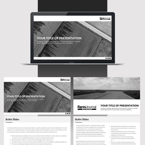 Powerpoint Template for Farm Journal