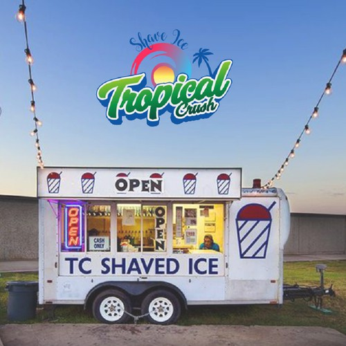 shave ice logo in hawaii