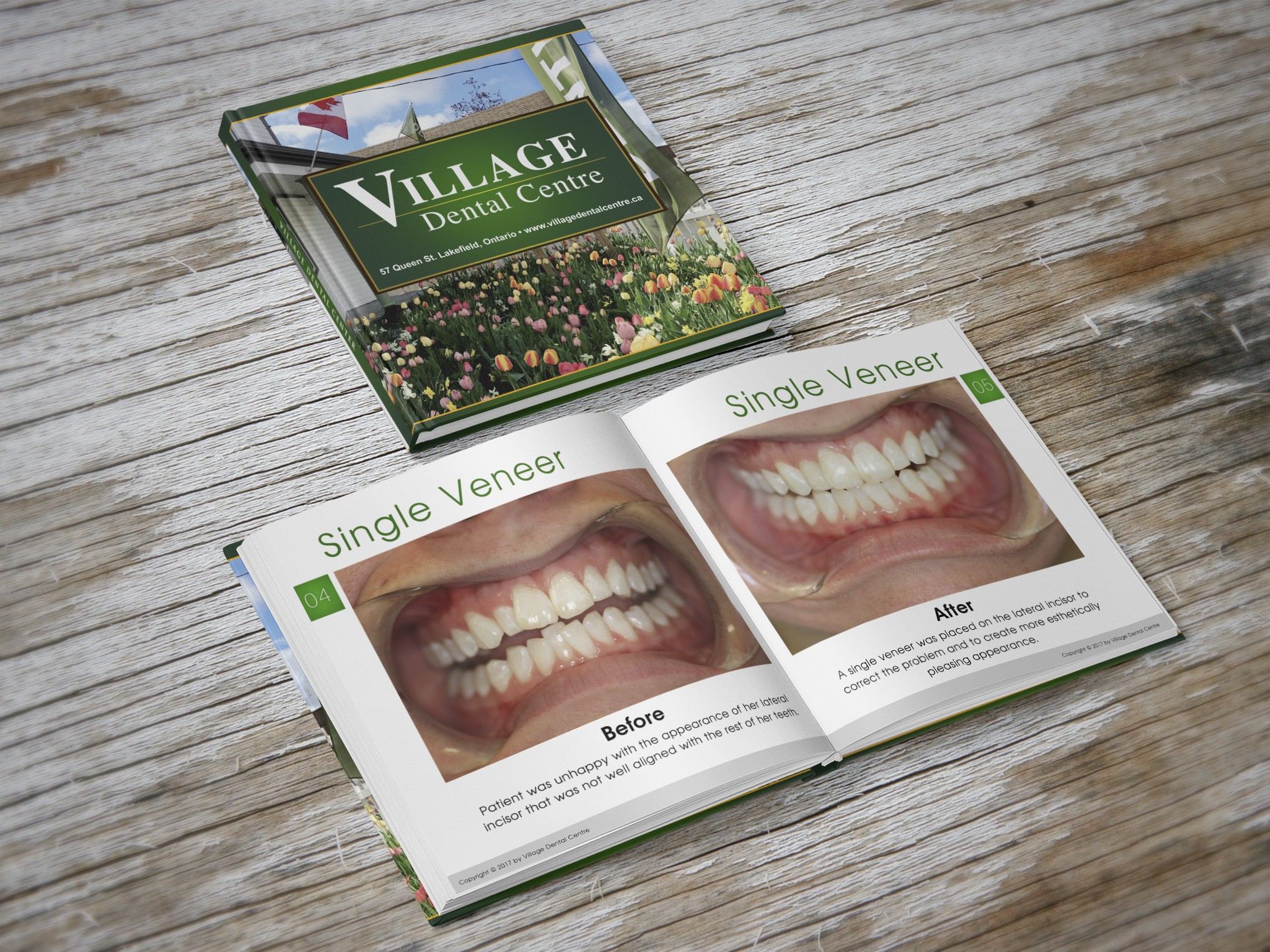 Dental office requires a patient education photo book