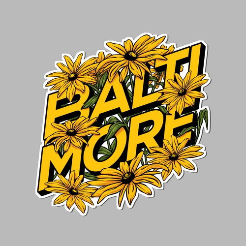 Baltimore Sticker Design
