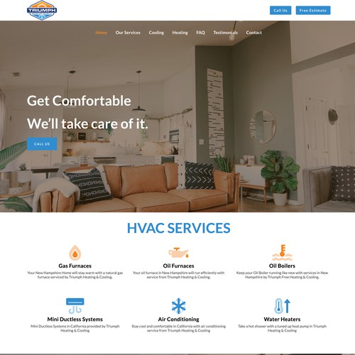Clean Professional Design For HVAC Company