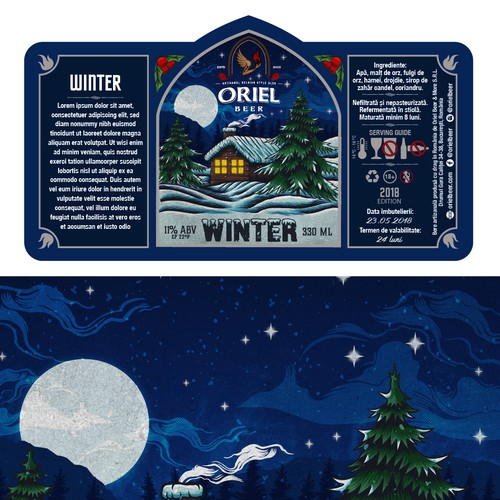 oriel beer label design