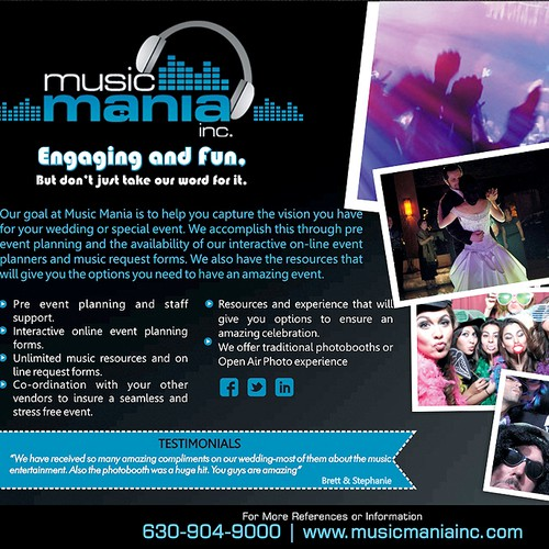 Create a preferred vendor ad for Music Mania Inc.