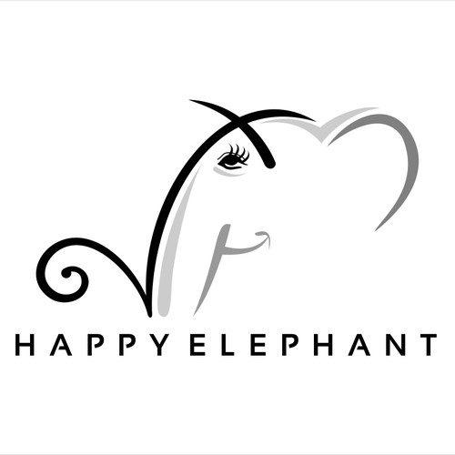 Please help me create a logo for my dream - - the Happy Elephant boutique hotel!