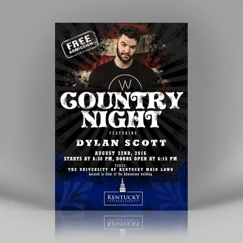 Country Night Flyer for University of Kentucky