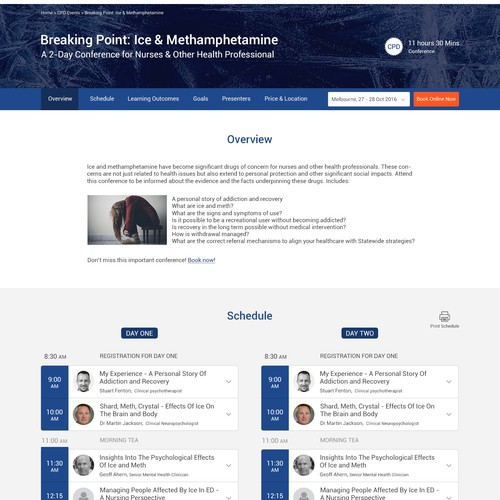 Landing Page Design for Conferences and Seminars