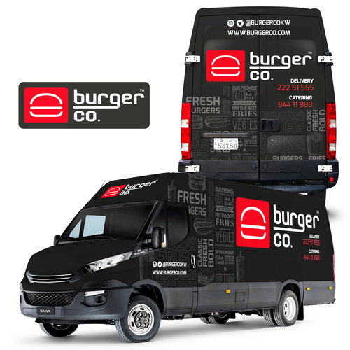 Burger Co. Food Truck Wrap