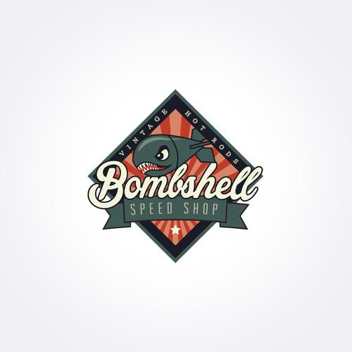 Hot Rod Shop / Speed Shop vintage bomb logo