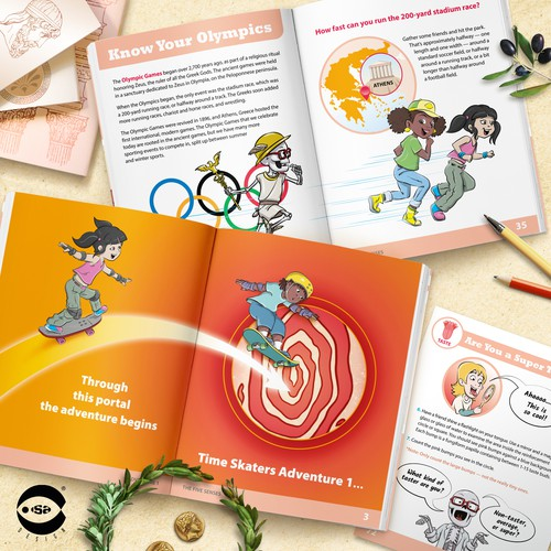 Interior book design and illustrations for Adventure 1 - The Five Senses by Know Yourself PBC