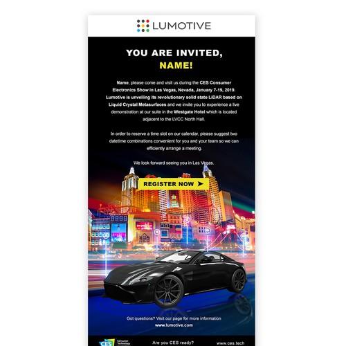 Lumotive Email Newletter Design