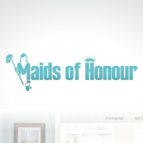 cleaning service logo for maids of honour