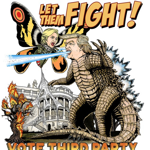 Tee design for Trump vs Hillary