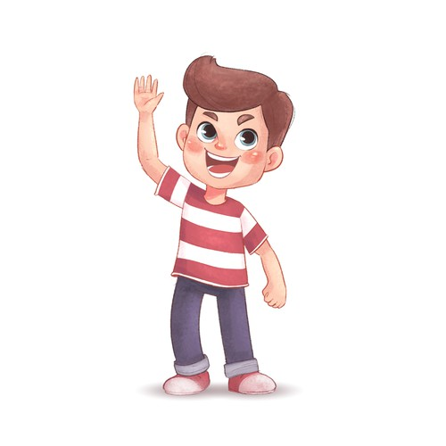 Cute Boy Character Design