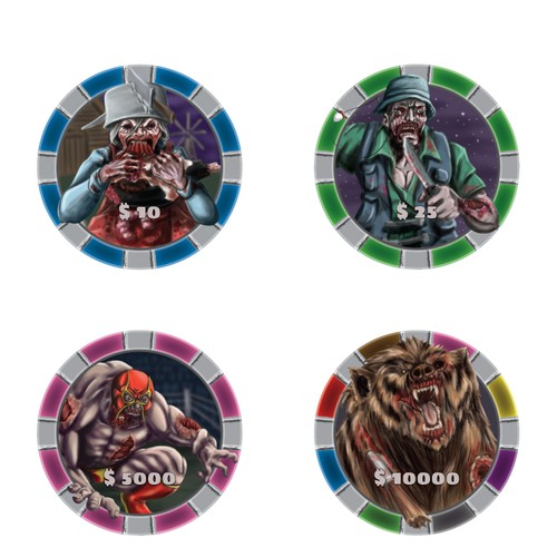 Poker zombie chips