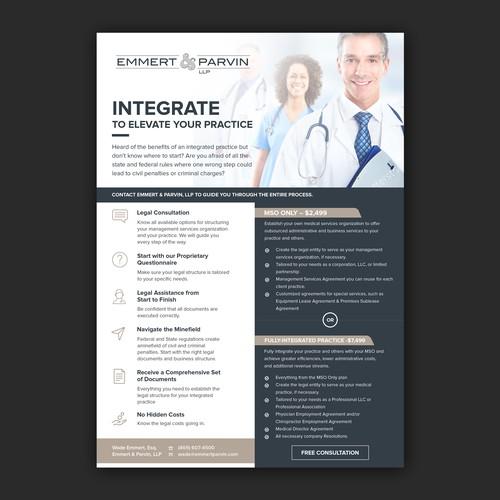 Simple and elegant flyer design for Emmert & Parvin