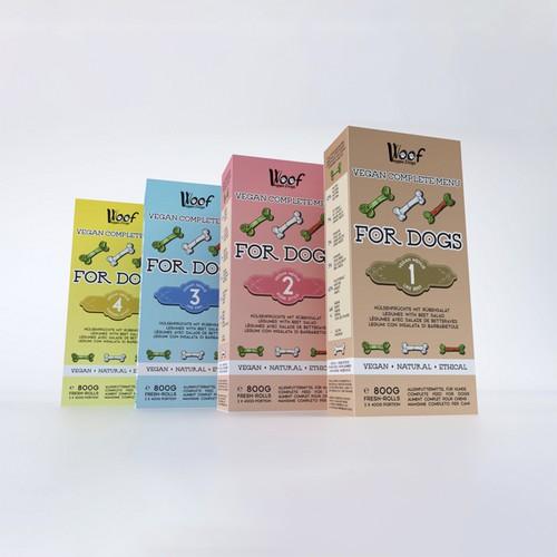 Vegetable dog food packaging design no. 2