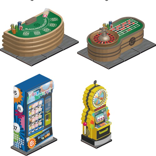 Gamify.com casino props for html5 virtual world