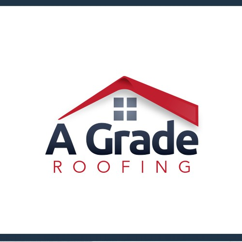 Logo concept for repair roof business