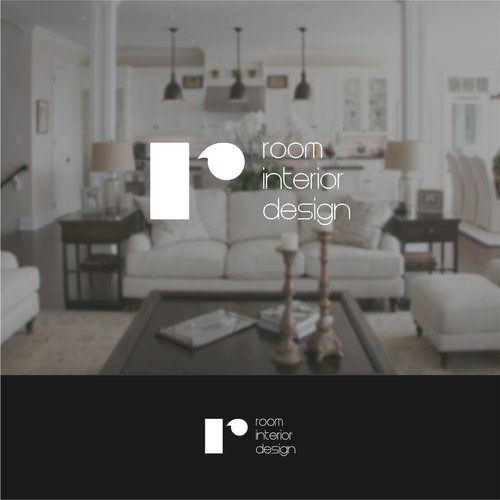 Simple Clean Logo For ROOM INTERIOR DESIGN