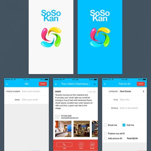Design an elegant simple classified mobile iPhone app