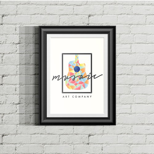 Logo design for Musaic Art Company, by NDC.