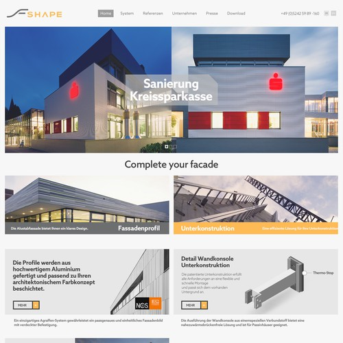website for modern architecture