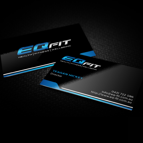 Create an energising and innovative logo & business card design for leading fitness business 'EQFIT'