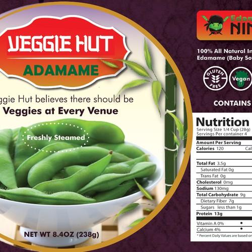 Design the Label for Veggie Hut!