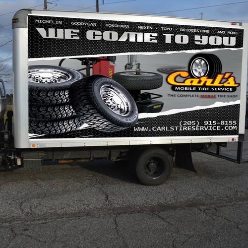 Carl's Mobile Tire Shop Vehicle Wrap