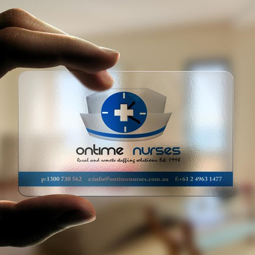 logo and business card for Ontime Nurses